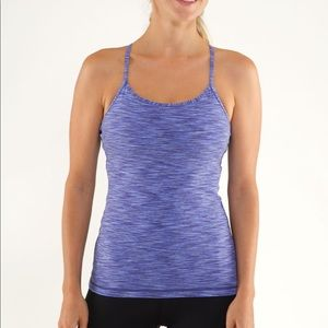Lululemon Power Y Tank Blue Royalty Space Dye